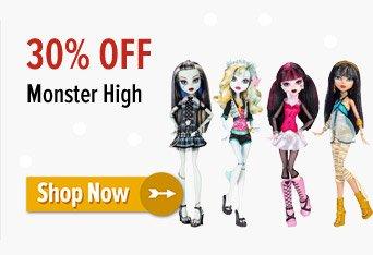 30% off Monster High