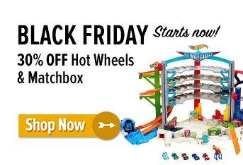 30% off Hot Wheels & Matchbox