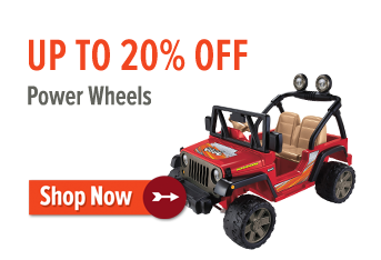 Up to 20% off Power Wheels