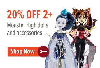 20% off 2+ Monster High