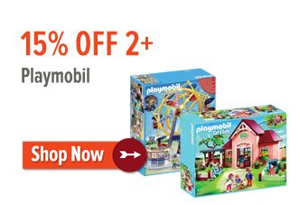 15% off 2+ Playmobil