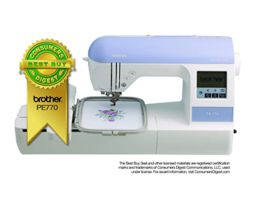 Amazon.com: Brother PE770 5 inch x7 inch Embroidery-only machine