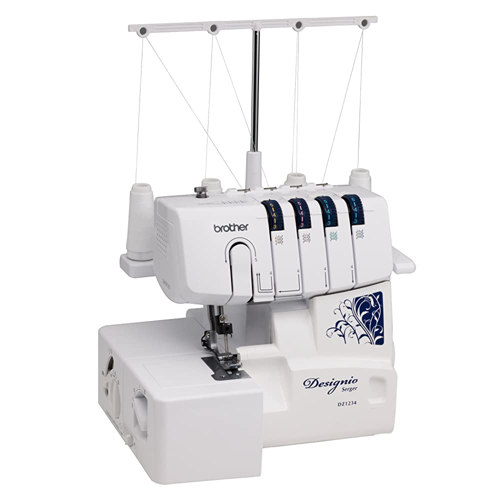 Brother Designio Series Dz1234 Serger Color Code Threading