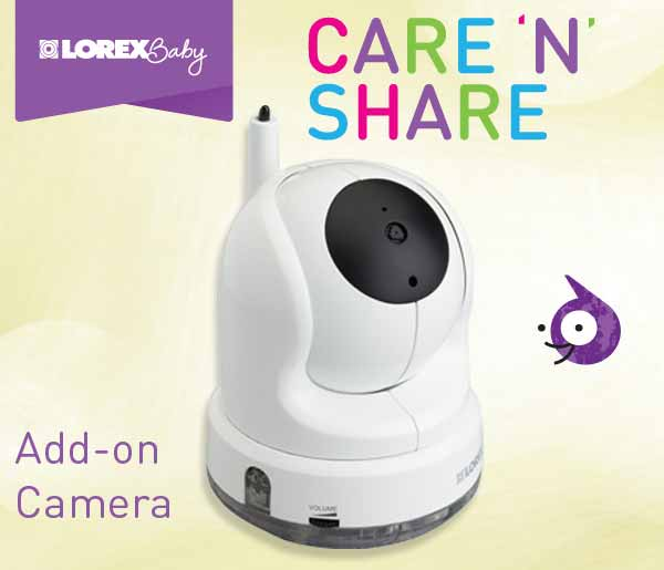 pantilt accessory camera for care n share wireless baby monitor. Black Bedroom Furniture Sets. Home Design Ideas