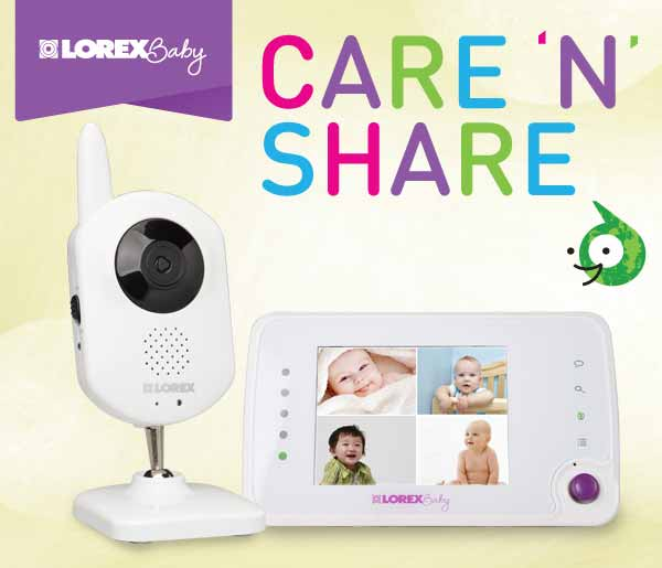 BB3521 Lorex Baby Care 'N' Share Video Baby Monitor