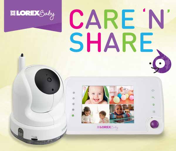 BB3525 Lorex Baby Care 'N' Share Video Baby Monitor
