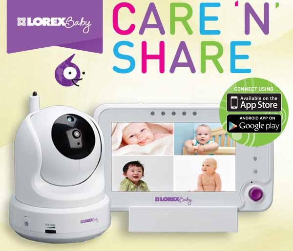 lorex bb4325x care 39 n 39 share 4 3 inch video baby monitor and wi fi c. Black Bedroom Furniture Sets. Home Design Ideas