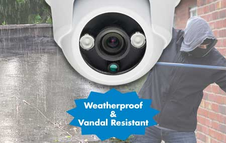 Weatherproof and Vandal resistant