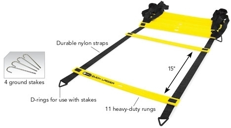 Amazon Com Sklz Quick Flat Rung Agility Ladder With Free