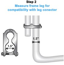Measure frame leg for compatibility