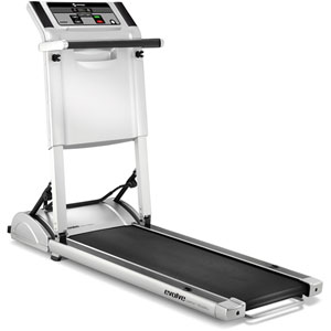 The Evolve Compact treadmill's quick, no assembly required design.