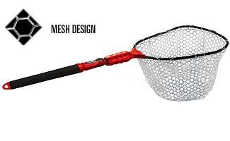 Ego s2 slider compact landing net fishing for Rubber fishing net