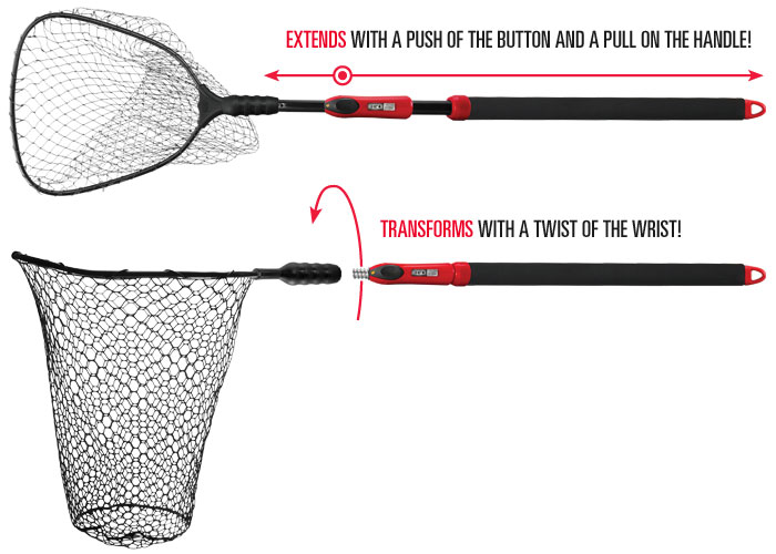 Ego s2 slider compact landing net fishing for Amazon fishing net