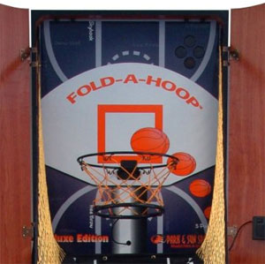 Fold A Hoop Cabinet Arcade Basketball Game Competitive Edge Products