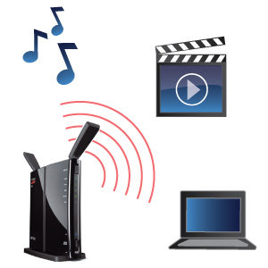 Stream your favorite music and videos while you surf the web!