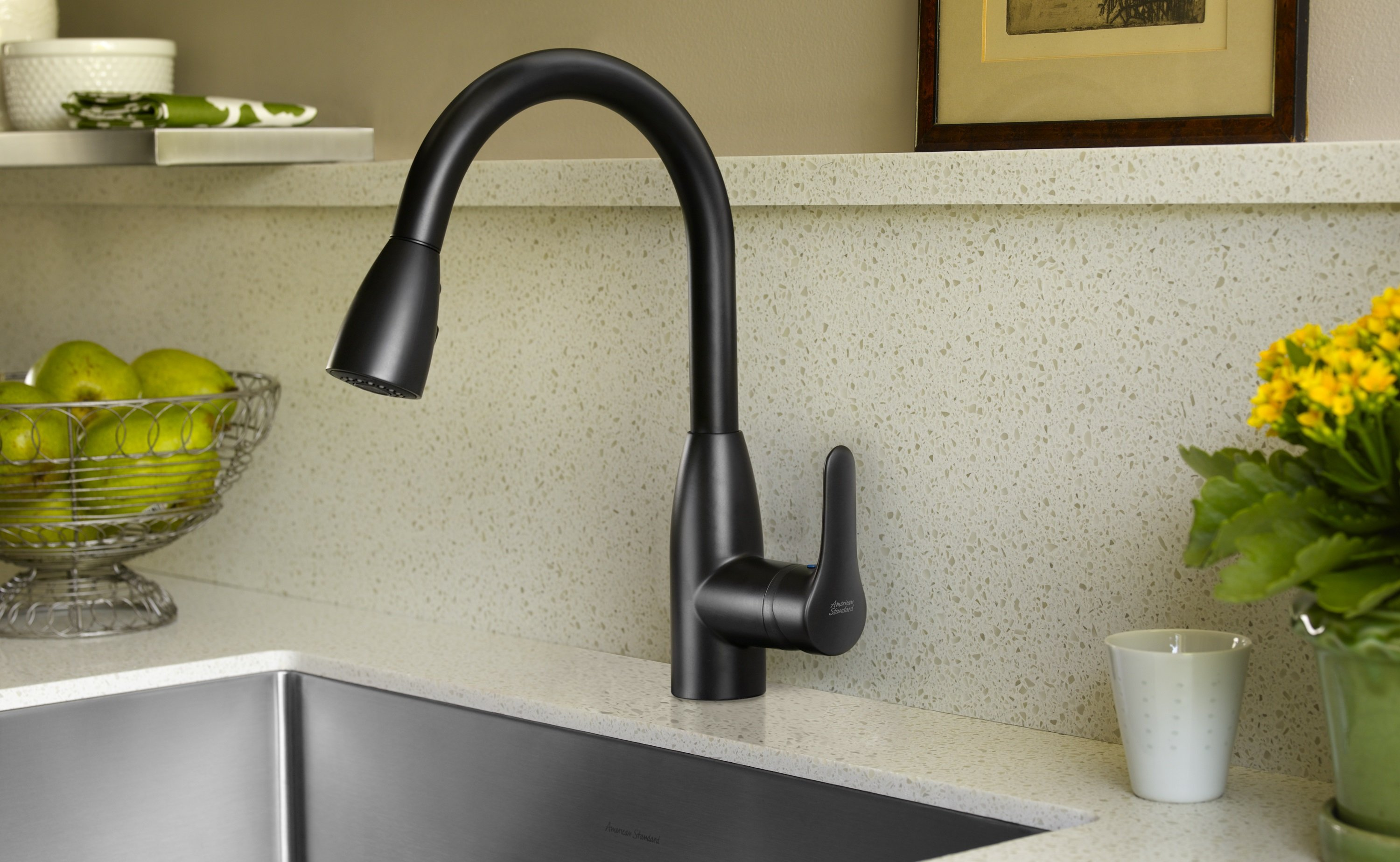 American Standard Colony Soft Pull-Down Stainless Steel Kitchen Faucet