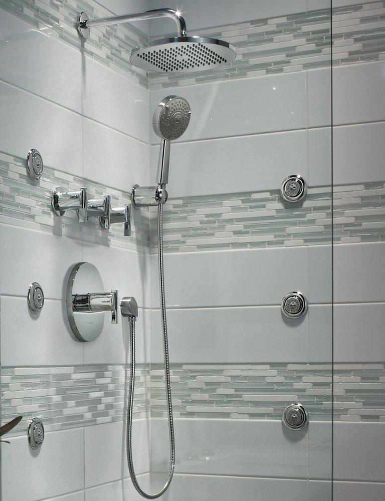 American Standard 10 Inch Modern Rain Easy Clean Showerhead Sat