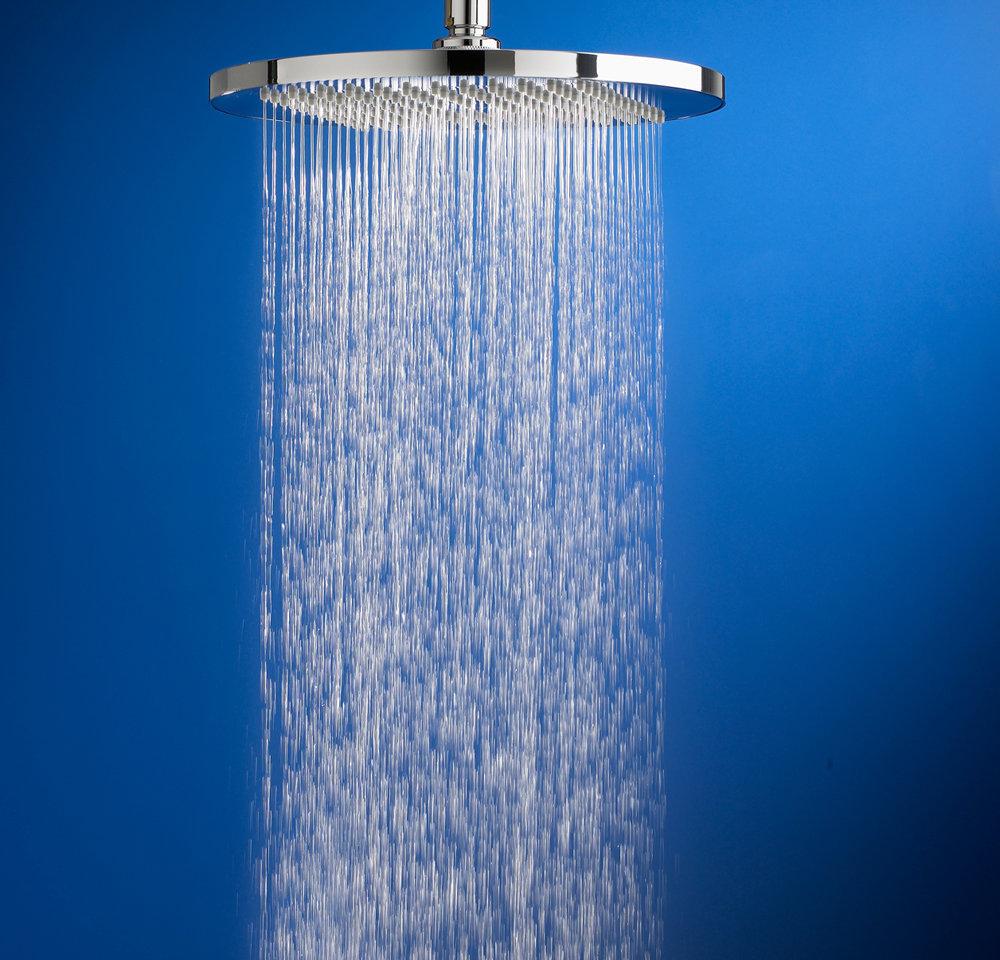American Standard 10 Inch Modern Rain Easy Clean Showerhead Pol