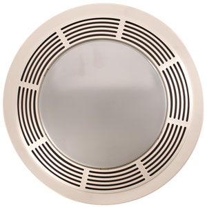 Broan model 751 fan light 100 cfm 3 5 sones round white - Round bathroom exhaust fan with light ...