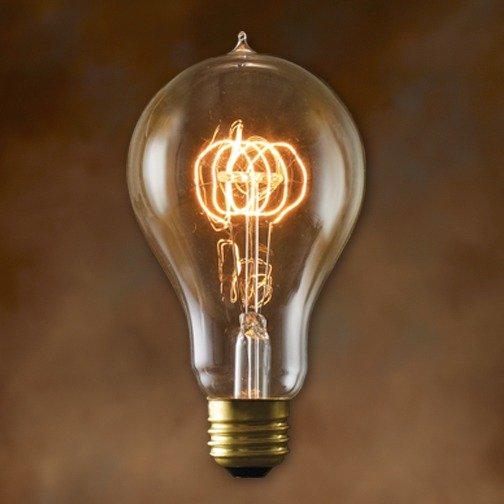 Bulbrite NOS25-VICTOR/A23 25-Watt Nostalgic Edison A23 Bulb, Victorian Loop Filament ...