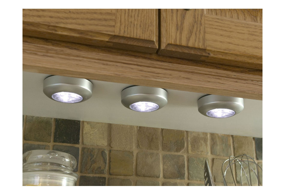led tap light wireless under cabinet lights closet lights 3 pack