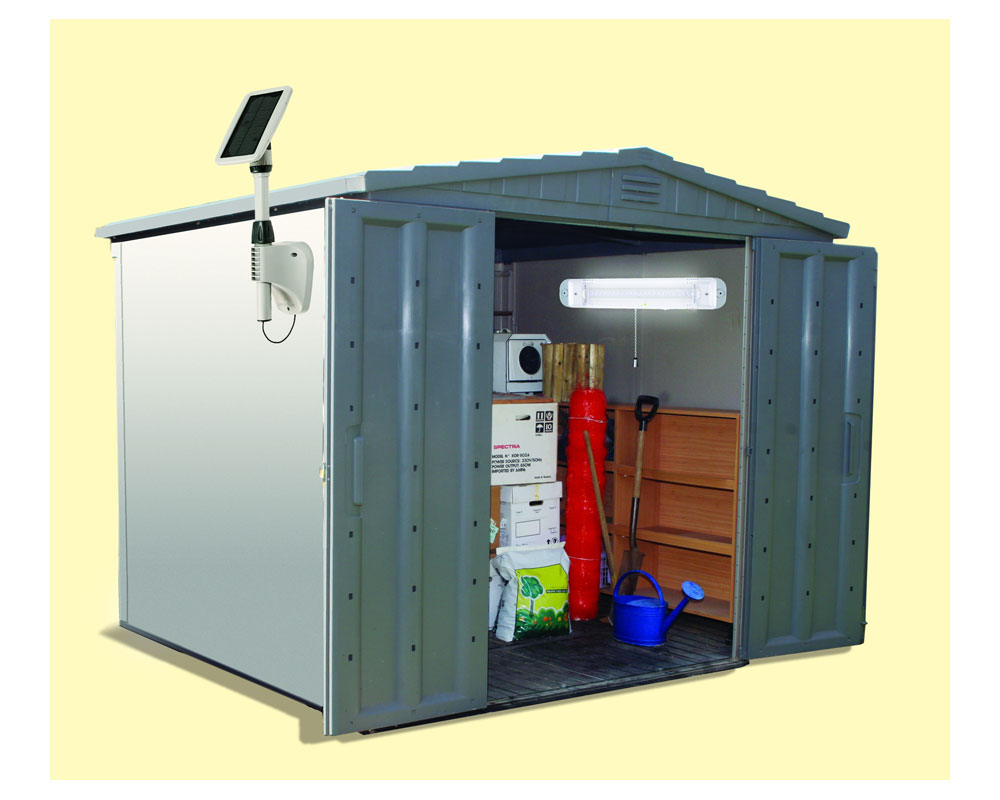 Amazon Com Gama Sonic Light My Shed Iii Solar Led Shed