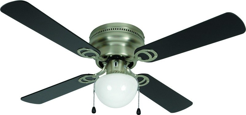 ... 42-inch ceiling fan is available in two finishes, including black or