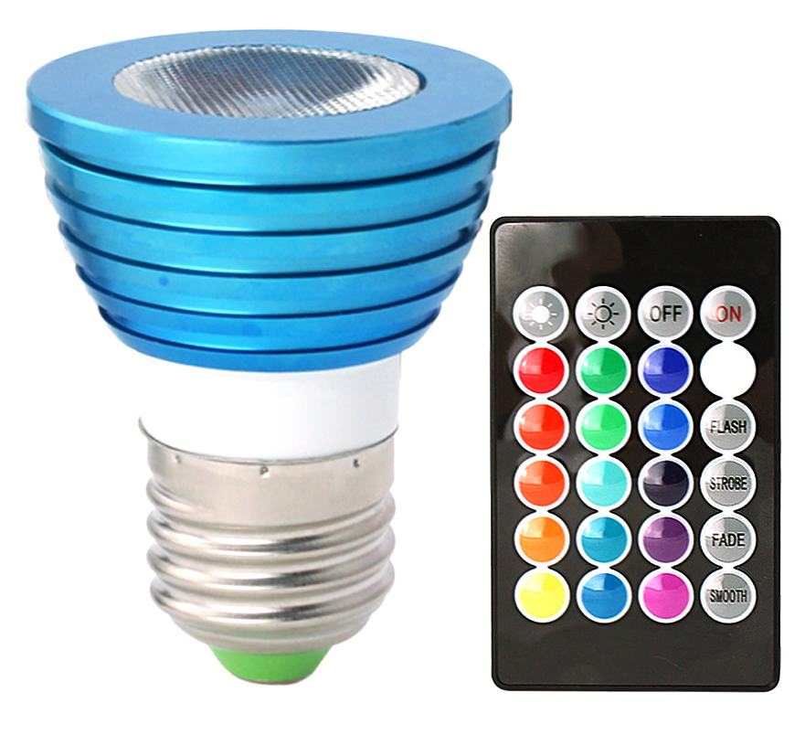 HDE Remote Control Color Changing LED ELight Bulb with RC