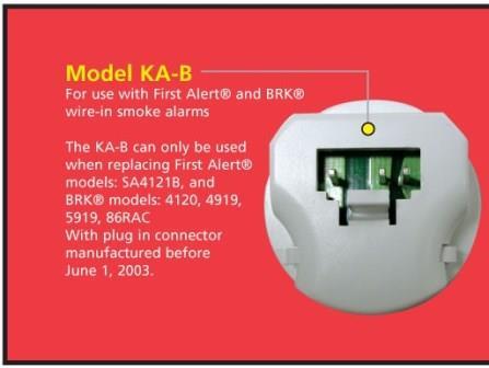 kidde ka b ka f universal smoke alarm adapters 2. Black Bedroom Furniture Sets. Home Design Ideas