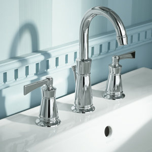 Stationary Tub Faucet : ... Faucet with 8-Inch Centers, Polished Chrome - Touch On Bathroom Sink