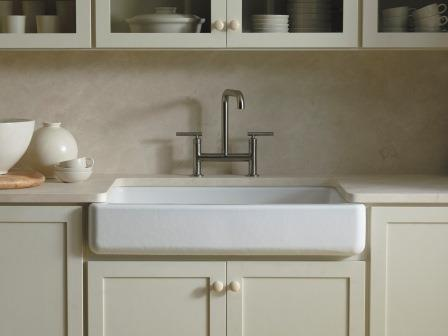 7 Inch Apron Front Sink : ... Apron Front Single Basin Sink with Short Apron, White - Single Bowl