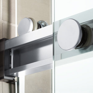 The unique bypass system on Levity bath doors simplifies installation and offers an exceptionally smooth and quiet sliding action.