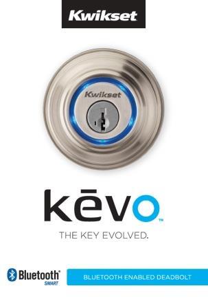 Kwikset 925 Kevo Single Cylinder Bluetooth Enabled