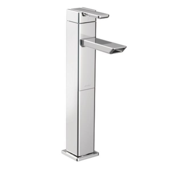 Moen S6711 90 Degree One Handle High Arc Bathroom Faucet Chrome Bathroom Sink Faucets