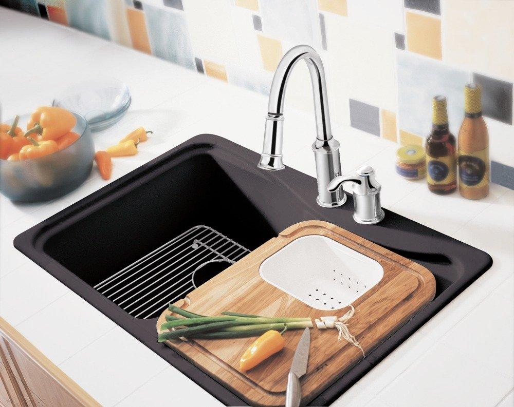 moen 7590orb aberdeen one handle high arc pulldown kitchen moen aberdeen kitchen faucet with soap dispenser to left