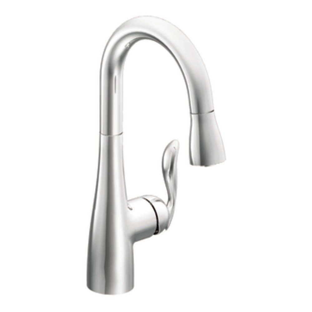 moen 5995 arbor one handle high arc pulldown single mount moen arbor single handle single hole kitchen faucet