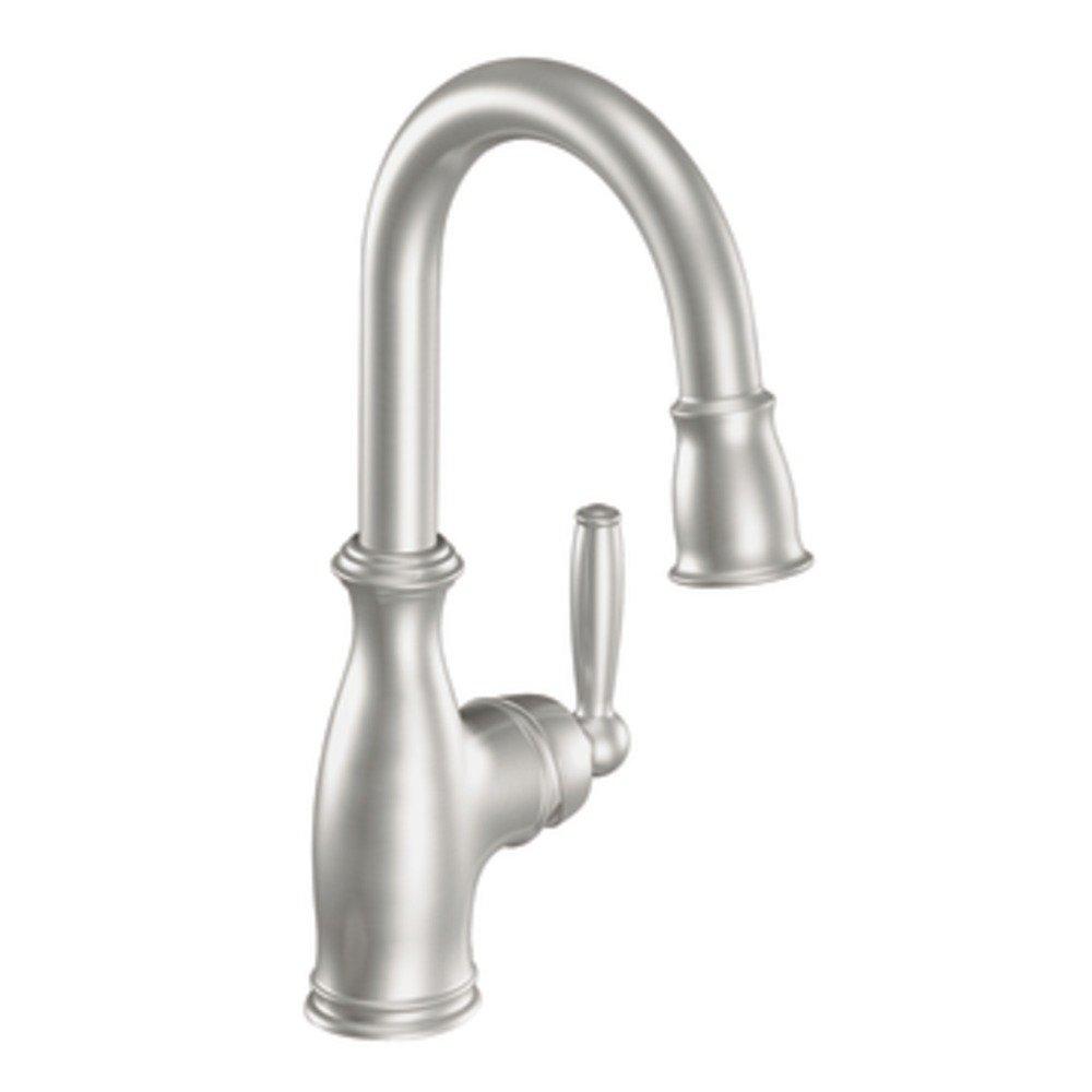 Moen 5985csl Brantford One Handle High Arc Pulldown Bar Faucet Featurng Reflex Classic