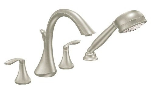 Moen T944bn Eva Two Handle High Arc Roman Tub Faucet And