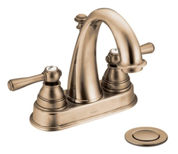 Moen 6121az kingsley two handle high arc bathroom faucet - Moen antique bronze bathroom faucets ...