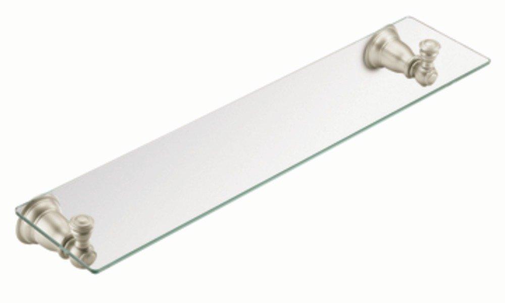 Brushed Nickel Bathroom Floor Shelf : Moen yb bn kingsley vanity shelf brushed nickel