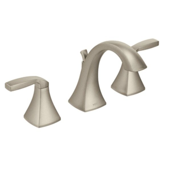 Moen T6905BN Voss Two Handle High Arc Bathroom Faucet Brushed Nickel Touch