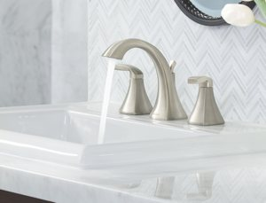 Moen T6905 Voss Two Handle High Arc Bathroom Faucet