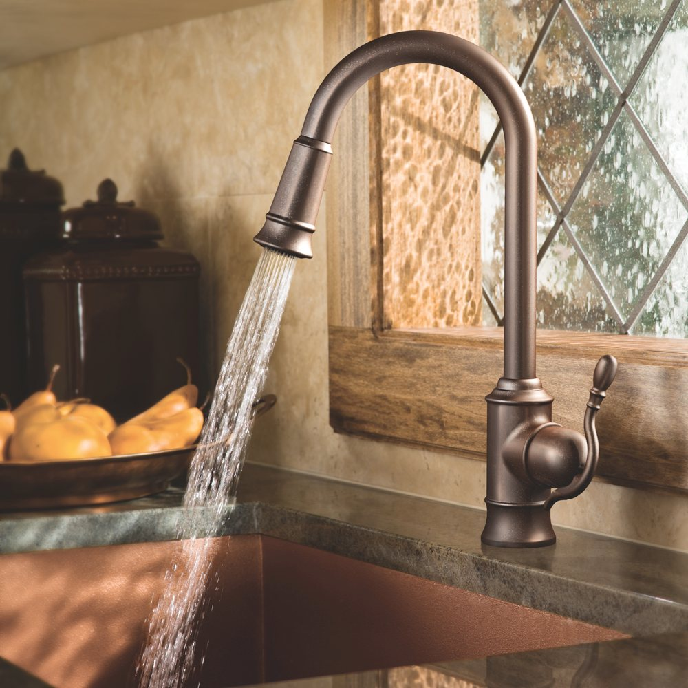 ... Faucet Featuring Reflex, Oil Rubbed Bronze - Touch On Kitchen Sink