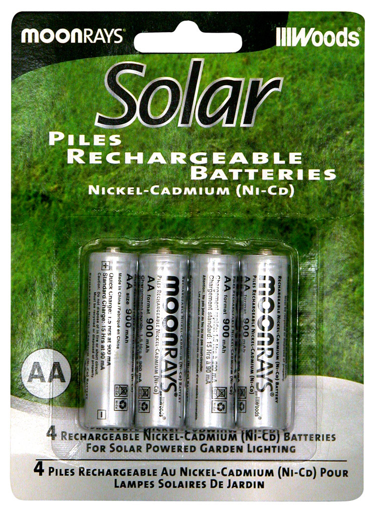 Amazon.com: Moonrays 97125 Rechargeable NiCd AA Batteries