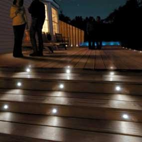 deck light low voltage 6 metal brushed stainless steel outdoor patio. Black Bedroom Furniture Sets. Home Design Ideas