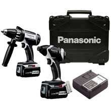 Panasonic's EYC159LR 18-V Cordless Hammer Drill and Driver and Impact Driver Kit