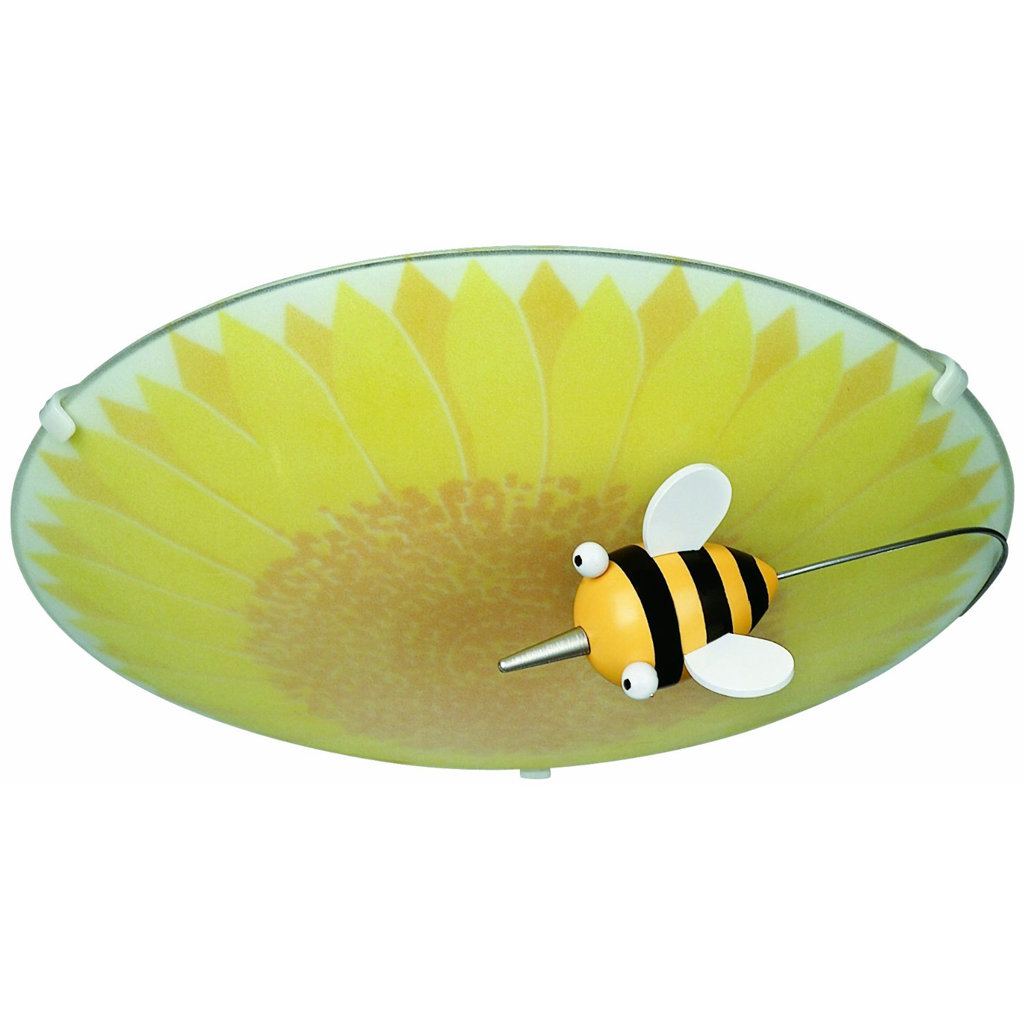 Philips 30111/55/48 KidsPlace Floral and Bumble Bee Ceiling Light ...