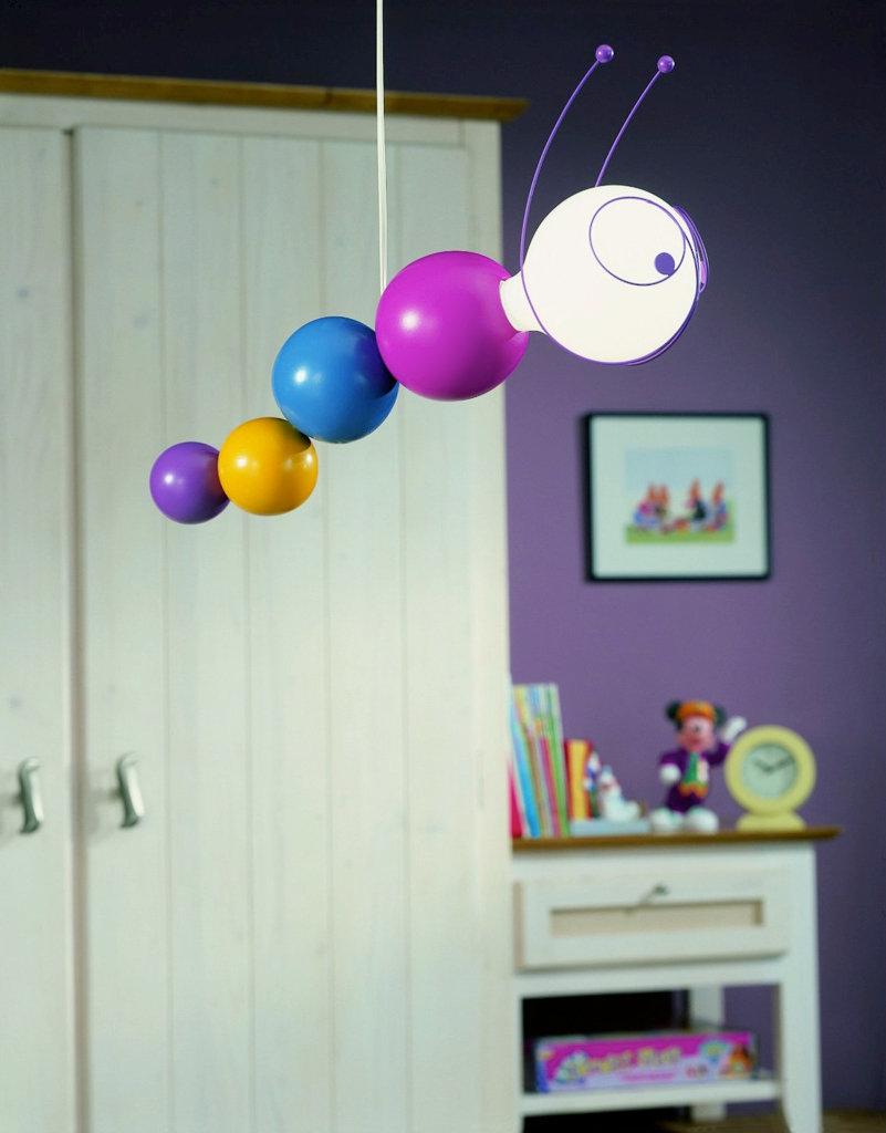 The Philips Kidsplace caterpillar suspension light fixture is a child