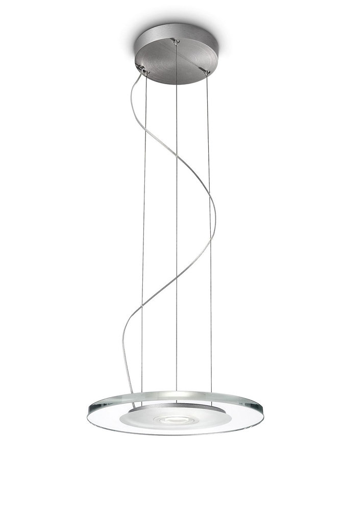 Philips 37340/48/48 Ledino LED Contemporary Disk Pendant Light, Aluminum/Glass - Ceiling Pendant ...