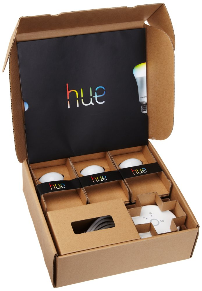 new philips 431643 hue personal wireless lighting starter kit frustration free ebay. Black Bedroom Furniture Sets. Home Design Ideas